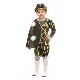 """Прокат костюм дитячий """" Принц""""(зелений)"""